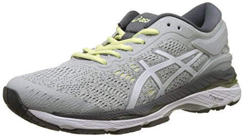 Asics Gel-Kayano 24, Zapatillas de Running Mujer, Gris (Glacier Grey/White/Carbon 9601), 39.5 EU