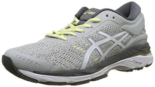 Asics Gel-Kayano 24, Zapatillas de Running Mujer, Gris (Glacier Grey/White/Carbon 9601), 37 EU