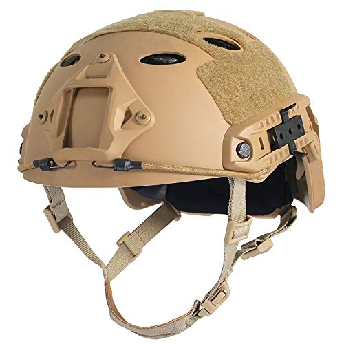 HYOUT Fast Base Jump Helmet PJ Style Airsoft Helmets U.S Military Tactical Helmet for Paintball Outdoor Sports Hunting Shooting