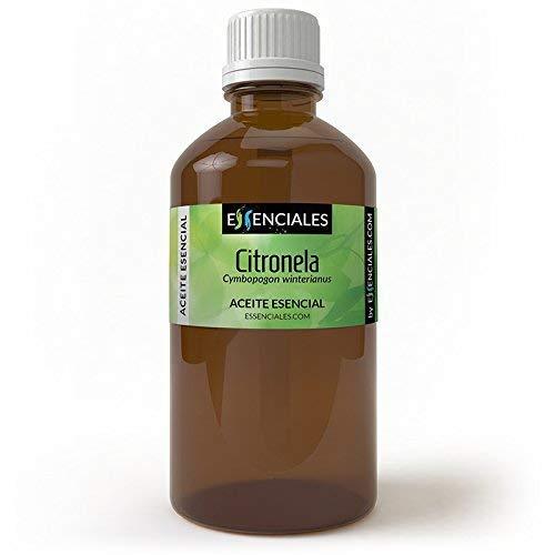 Essenciales - Aceite Esencial de Citronela, 100% Puro, 100 ml | Aceite Esencial Cymbopogon Winterianus