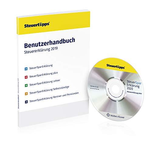 SteuerSparErklärung 2020 für Rentner, Schritt-für-Schritt Steuersoftware für die Steuererklärung 2019, Steuer CD-Rom in frustfreier Verpackung für Windows 10, 8