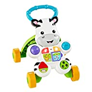 Fisher-Price Stand and Walk Walker encourages those first few steps and invites baby to keep moving with fun phrases, music and sounds The baby activity walker with easy-grasp handle provides baby with the best possible grip and a sturdy 4-wheel base...