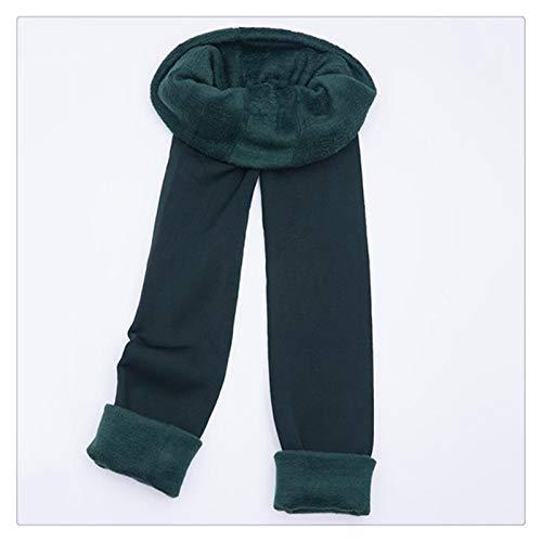 XBECO Otoño Invierno Moda Plus Terciopelo Grueso De La Cachemira De Las Polainas De Los Imperm Perfectamente Integrado Buena Elasticidad (Color : Green, Size : M)