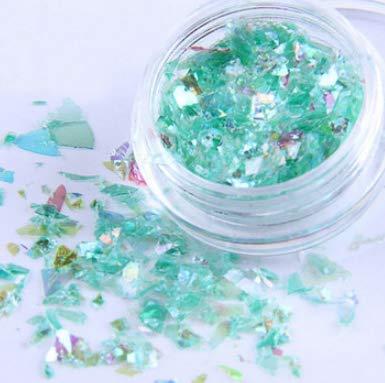 TECH-FUN Magic Color Nail Candy Shell Papier Phototherapie Dekorative Glas-Farbfolie 1pc Grenn
