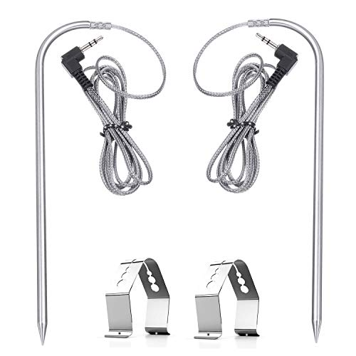 Factory Replacement Parts Meat Temperature Probe for Camp Chef Grill OEM 2-Pack BBQ Grill Meat Temperature Probe for CampChef Wood Pellet Grills, Stainless Steel PRO Digital Thermostat Probe Set of 2