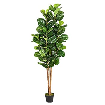 VINGLI 6Ft Fake Fiddle Leaf Fig Tree Artificial Greenery Plants,72  Decorative UV Resistant Trees for Home & Office Living Room  Indoor & Outdoor
