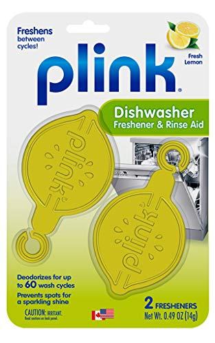 Plink PRA12T Dishwasher Freshener & Rinse Aid, 2 Fresheners, 1 Pack, Yellow