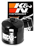 K&N Motorcycle Oil Filter: High Performance, Premium, Designed to be used with Synthetic or Conventional Oils: Fits Select Honda, Kawasaki Vehicles, KN-202 , black