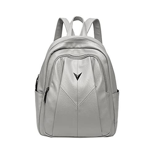 NIYUTA Bolsos mochila mujer moda vintage casual viaje escolares Bolsos (gris)