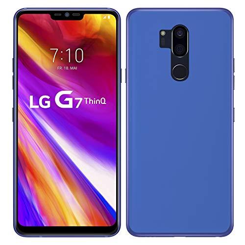 TBOC® Funda de Gel TPU Azul para LG G7 ThinQ (6.1 Pulgadas) de ...