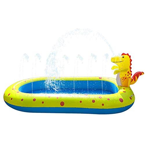 Gran piscina inflable de aspersor para niños, piscina para bebés, piscina para niños, niños pequeños vadeando agua de natación juguetes al aire libre bebés niños niñas 170 x 105 x 65 cm