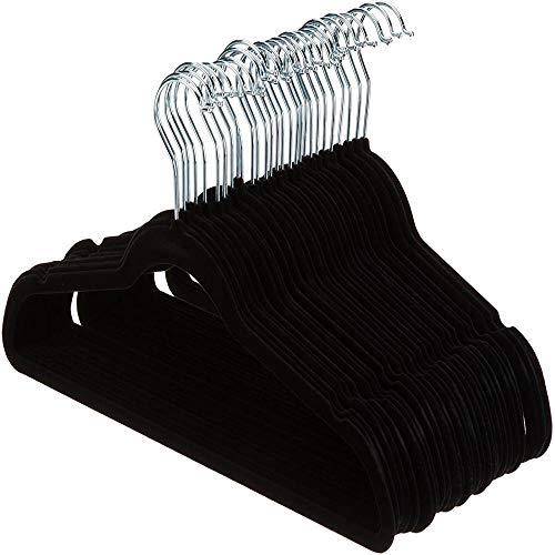 Mingstong Perchas-Perchas ultrafinas para Traje de Ahorro de Espacio de 10 Piezas - Trabajo Pesado - Antideslizante - Gancho Giratorio de 360 ° para Chaquetas, Pantalones, A