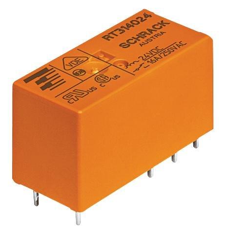 Relé 24VDC 16A/250V RT314024