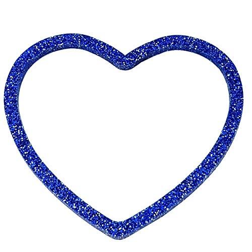 VIALESCARPE - Pulsera rígida ArkyFly, Plexyglass con purpurina, tallada en corazón, mujer; azul; UNI.