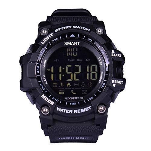 Reloj Bluetooth EX16 Smart Time Owner Reloj de notificación con control remoto, podómetro, reloj deportivo, impermeable IP67, para hombre (oro)