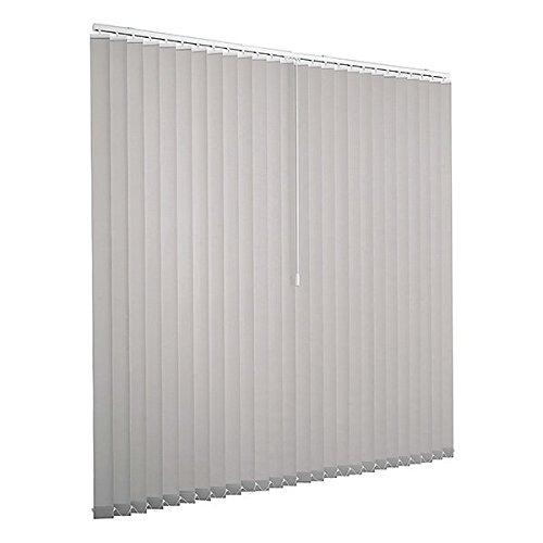 Ventanara Lamellenvorhang grau Vertikaljalousie 89mm inklusive Montagematerial 200 x 180 cm