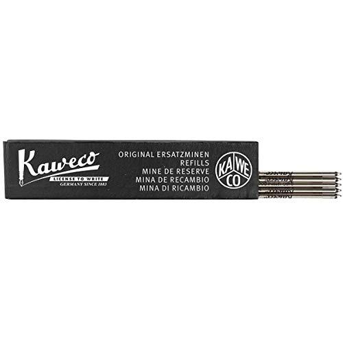 Kaweco D1 - Mina para bolígrafo (5 unidades, 0,8 mm), color negro