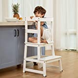 kitchen step stool for toddlers, kids learning stool, baby standing tower for counter, children