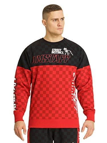 Amstaff Herren Sweatshirt Dexta, Größe:M, Farbe:schwarz/rot/weiß