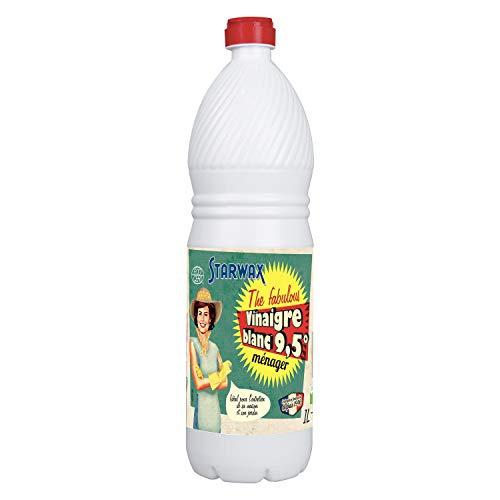 Starwax - Vinagre Blanco 21063 - Concernido detergente Pero no Contiene componentes para indicar según la Lista de Ingredientes en el Reglamento 648/2004, NC, 1 L