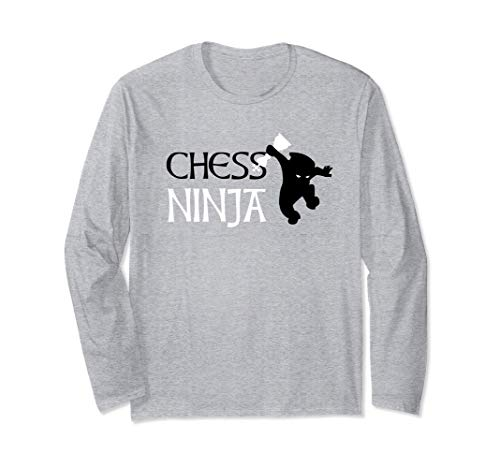プレイヤーとクラブメンバーのためのチェス忍者 長袖Tシャツ