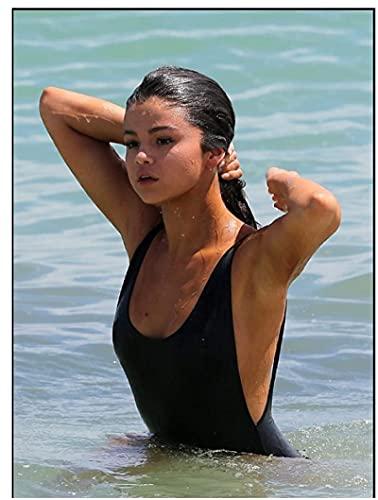 XXUREJK Actriz Estadounidense Estrella Selena Gomez Carteles de Papel Rompecabezas 1000 Piezas Juguetes para Adultos Juego de descompresión 38X26 CM