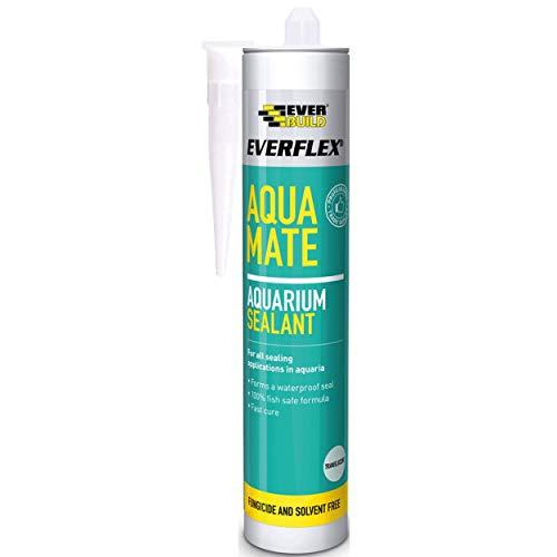 Everbuild Aquatr Everflex Aqua Mate - Silicona para acuarios, transparente, 295 ml