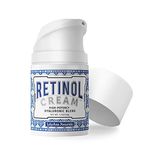 Retinol Cream Moisturizer for Face and Eyes, Use Day and Night - for Anti Aging, Acne, Wrinkles - made with Natural and Organic Ingredients - 1.07 OZ by LilyAna Naturals