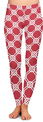 YouCustomizeIt Celtic Knot Ladies Leggings - 2X-Large (Personalized) Red