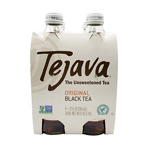 Tejava, Iced Tea, Unsweetened, 12 oz Bottles (Pack of 4)