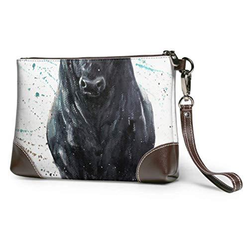 XCNGG Bolso de mano de cuero suave e impermeable, elegantes toreros actúan perfectamente, billetera de cuero con cremallera para mujeres y niñas