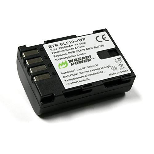 Wasabi Power Battery for Panasonic DMW-BLF19 and Panasonic Lumix DMC-GH3, DMC-GH4, DC-GH5, DC-GH5S, DC-G9