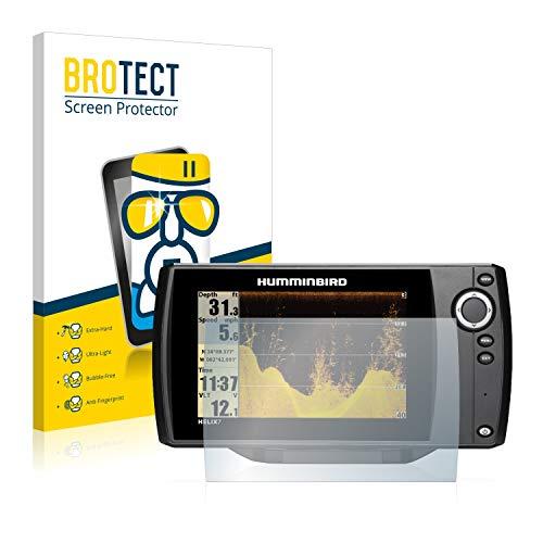 BROTECT Protector Pantalla Cristal Compatible con Humminbird Helix 8 Chirp Mega SI+ GPS G3N Protector Pantalla Vidrio - Dureza Extrema, Anti-Huellas