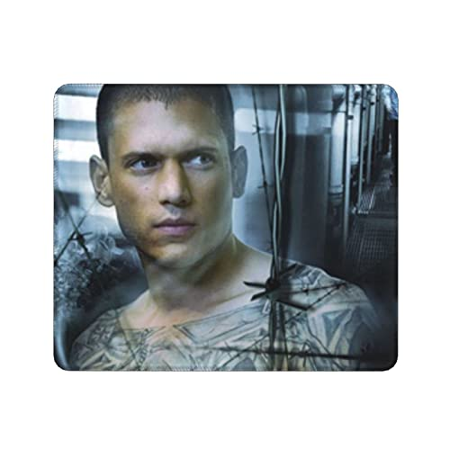 Prison Break TV Show Alfombrilla de ratón, tamaño grande, antideslizante, ultrafina, parte inferior de goma para oficina y hogar, 35,4 x 30,5 cm