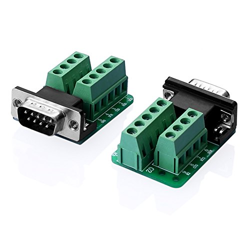 Sienoc RS232D-SUB DB9- Adaptador macho al conector de bornas, módulo de señal