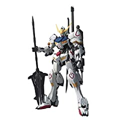 The pistons on the shoulders reproduces the mechanical structure The allows for additional movement. The Barbatos mace also features It's hidden slide gimmick for the tip. A spinning gimmich is installed for the mobile suit's ahab reactor. Only produ...