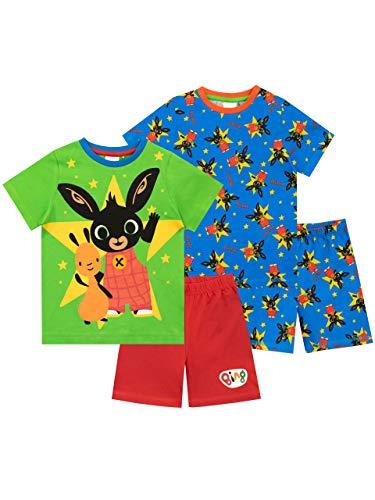 Bing Pijamas de Manga Corta para niños 2 Paquetes Multicolor 3-4 Años