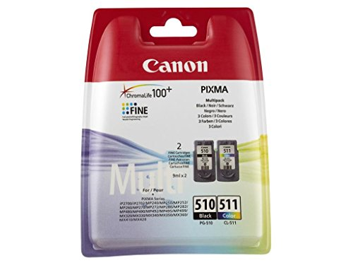 Canon PG-510 & CL-511 – Cartuchos de tinta – negro & color