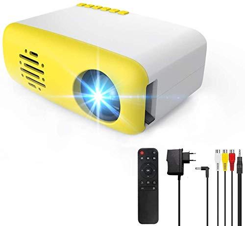 3T6B Mini Video Beamer, Tragbare TFT LED LCD Heimkino Projektor, kompatibel mit AV / USB / Micro-SD / TV-Stick für Home Entertainment