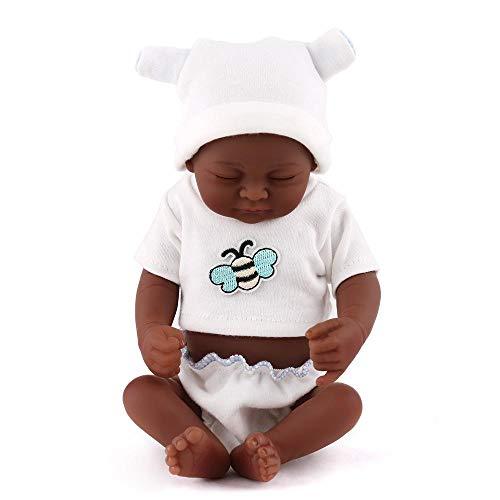 SONGXM Reborn bebe Hecho a mano de silicona suave 28 CM renacimiento muñeca realista recién nacido negro muñeca real regalo del juguete del niño