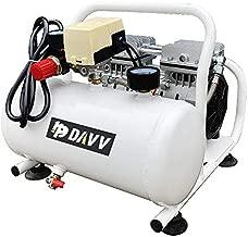 HPDAVV Portable Air Compressor Oil-Less - 110V/650W/6.5A - 4cfm @ 125psi - 2Gal Tank - 36lbs Light Weight - 56dB Ultra Quiet Garage Tool