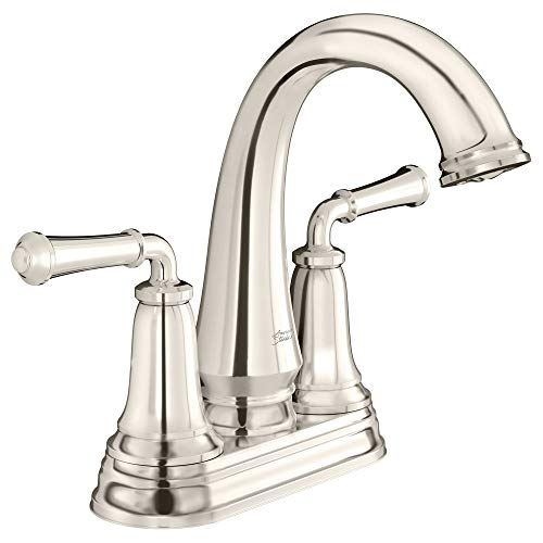 American Standard 7052207.013 Delancey Centerset Bathroom Faucet with Pop-Up Drain, Polished Nickel