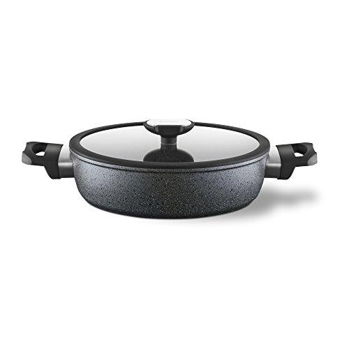 Berndes Balance Induction Special Edition Schmorkasserolle mit Glasdeckel 28 cm, 021278, Aluminium, 4 Liter