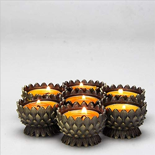 Ranking TOP12 QYLLXSYY Simple Great interest Lotus Candlestick Creative Hotel Decoration Home