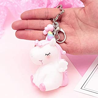 LAJKS Colorful Plush Pendant Toy Squeezable Sound Venting Dolls Kawaii Hairball Animal Horse Keychain Toys for Girls Gift Must Have Items The Favourite Toddler Superhero Boy Must Have