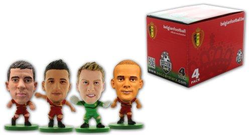 SoccerStarz 400205 - Belgien Fußball-Nationalmannschaft 4 Player Box B