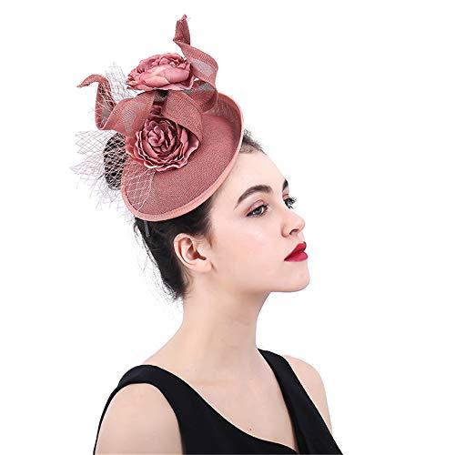 Jklj Pince à Cheveux Coiffe De Plumes Lady Flower Net Chapeau Coiffe Capitule Rétro