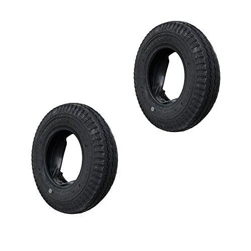 2 Set Decke Reifen und Schlauch 4.80/4.00-8  KENDA Anhängerreifen DDR-HPAnhänger