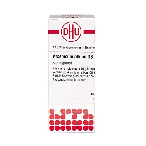 DHU Arsenicum album D6 Streukügelchen, 10 g Globuli