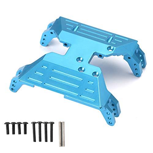 RZXYL Aluminum Centre Skid Plate for Axial Capra 1.9 UTB AXI03004 RC Crawler Car Upgrade Parts (Blue)